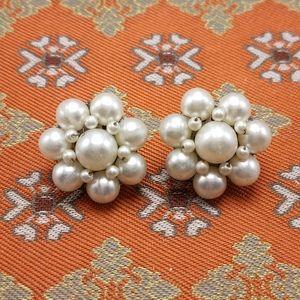 🌈 Vintage pearl wedding cluster flower retro